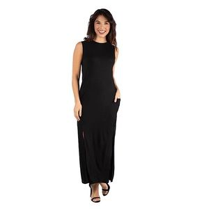 Women's Zara Trafaluc Maxi black dress M 💁🏻♀️!